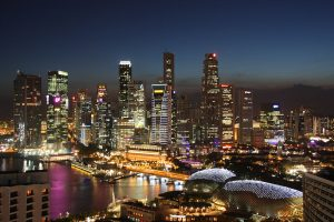 Singapore @ Night | Photo Credit: Wikimedia Commons